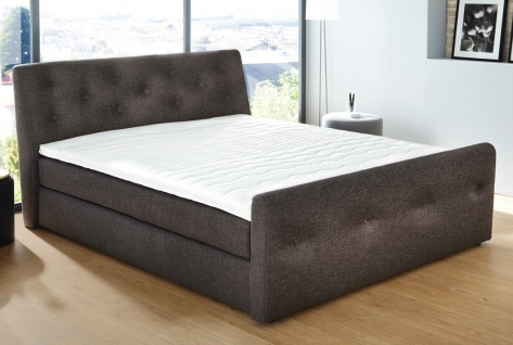 boxspringbett bernardo 180x200cm bezug braun bett tonnentaschenfeder kaufen bei vbbv gmbh co kg. Black Bedroom Furniture Sets. Home Design Ideas