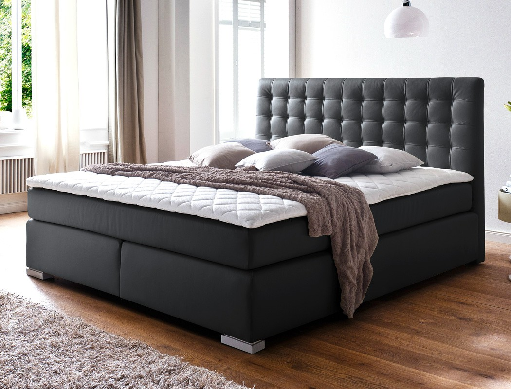 boxspringbett ishan schwarz varianten box bonnell komfortbett ehebett kaufen bei vbbv gmbh. Black Bedroom Furniture Sets. Home Design Ideas