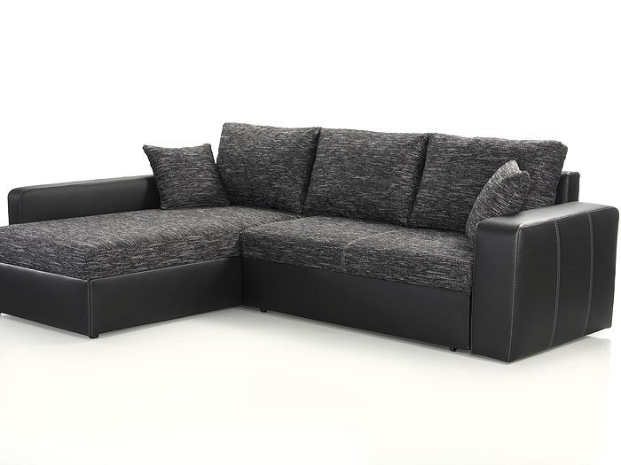 ecksofa vida 244x174cm anthrazit schwarz schlafsofa couch polsterecke kaufen bei vbbv gmbh. Black Bedroom Furniture Sets. Home Design Ideas