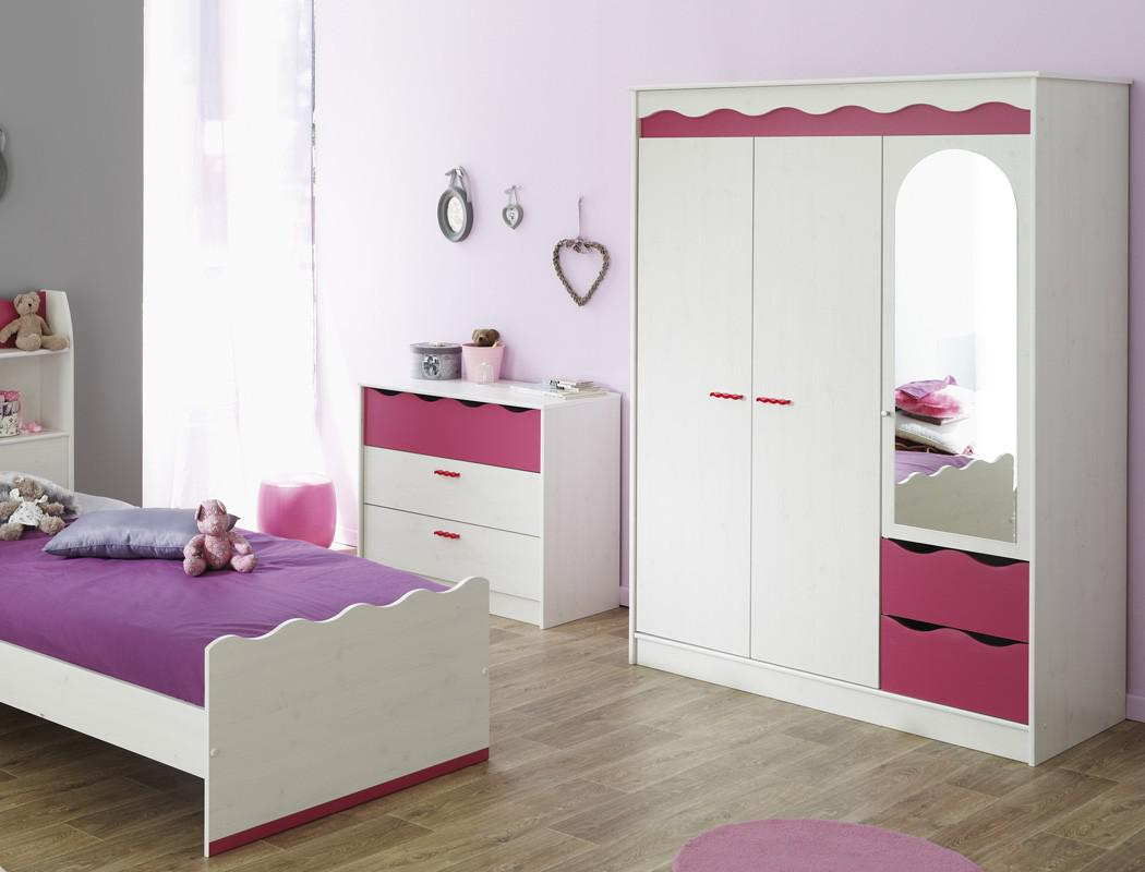 kinderzimmer lilan 1 wei pink kleiderschrank bett. Black Bedroom Furniture Sets. Home Design Ideas