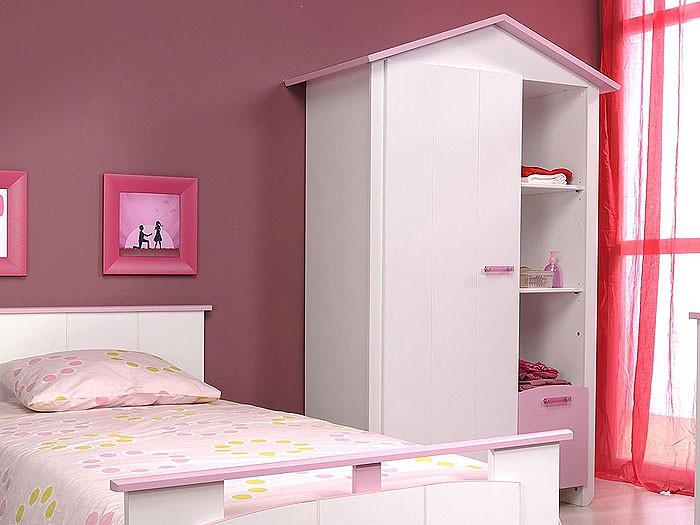kinderzimmer beauty 2 3 teilig wei rosa schrank bett nako kaufen bei vbbv gmbh co kg. Black Bedroom Furniture Sets. Home Design Ideas