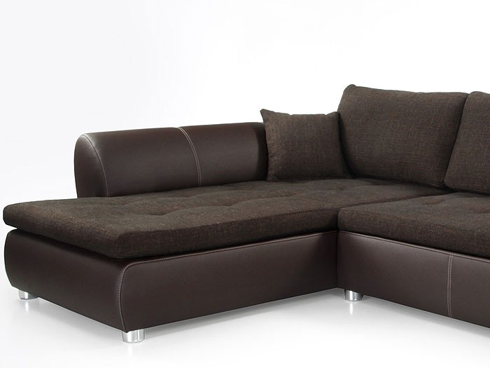 wohnlandschaft avery 287x196cm webstoff braun kunstleder braun sofa kaufen bei vbbv gmbh. Black Bedroom Furniture Sets. Home Design Ideas