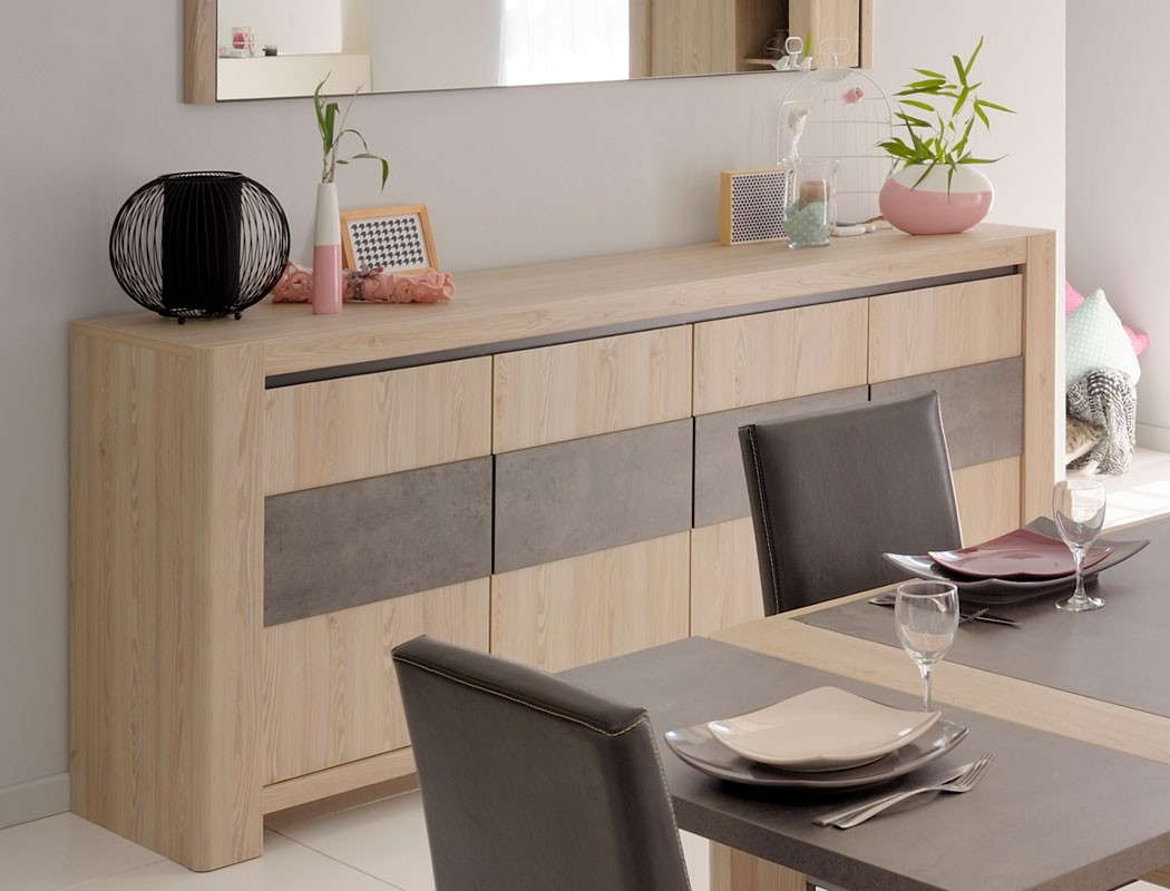 sideboard christoph 14 eiche steinoptik 220x93x48 schrank wohnzimmer kaufen bei vbbv gmbh co kg. Black Bedroom Furniture Sets. Home Design Ideas