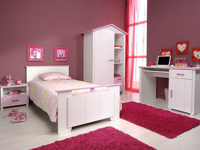 Kinderzimmer beauty 7 4 teilig wei rosa schrank bett for Kinderzimmer 7 teilig