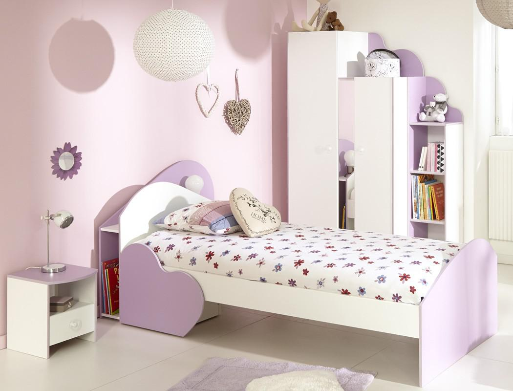 kinderzimmer milena 2 wei lila kinderbett schrank nachttisch regal kaufen bei vbbv gmbh co kg. Black Bedroom Furniture Sets. Home Design Ideas