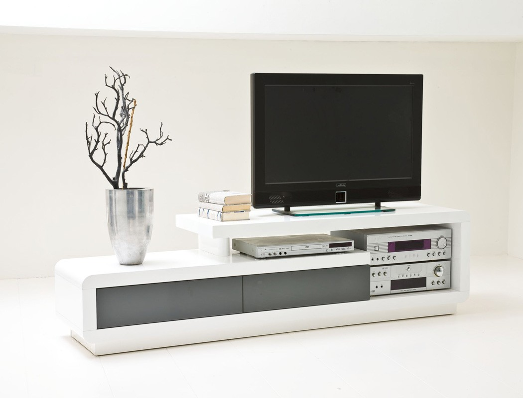 lowboard celine 170x45x40 cm hochglanz wei grau tv board tv m bel kaufen bei vbbv gmbh co kg. Black Bedroom Furniture Sets. Home Design Ideas