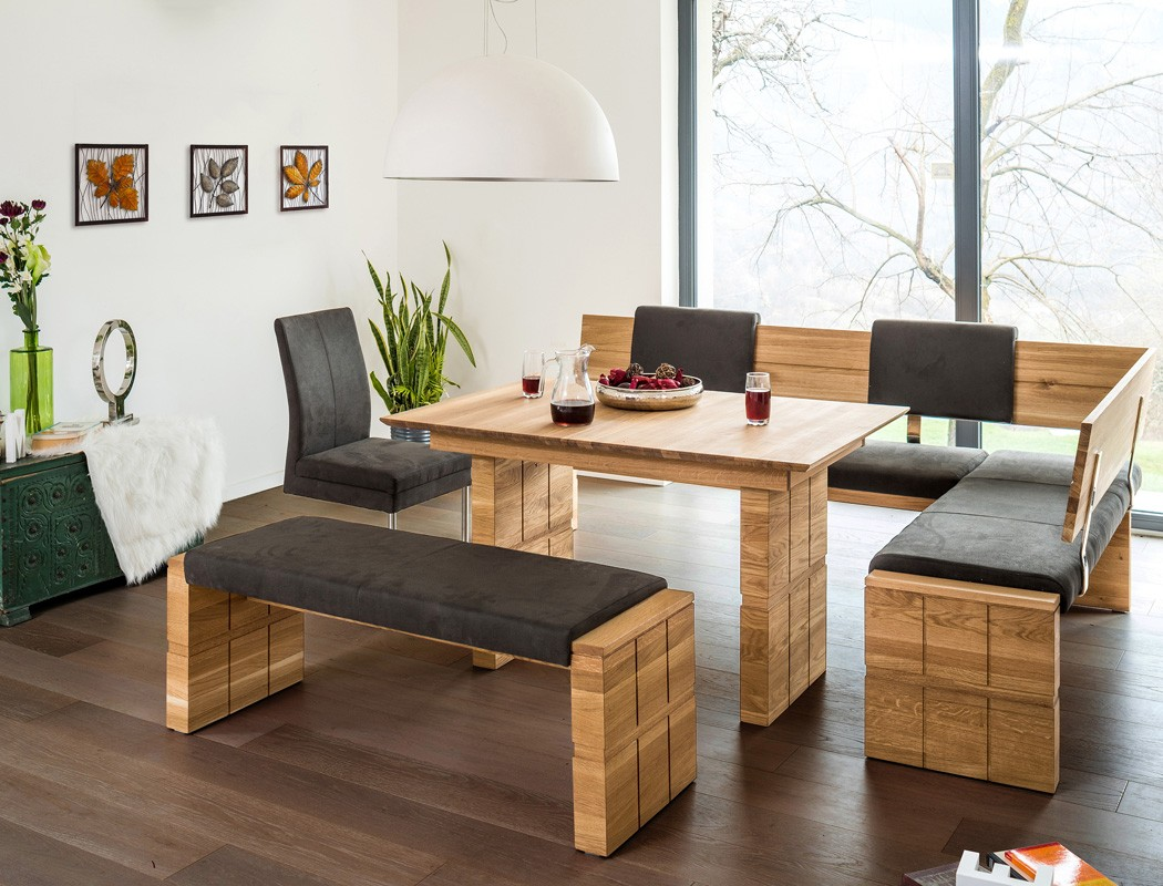 holzbank wilson mit lehne variantenauswahl massivholzbank. Black Bedroom Furniture Sets. Home Design Ideas
