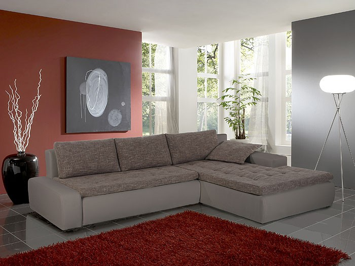 ecksofa alisa 300x210cm webstoff braun beige kunstleder schlammbraun kaufen bei vbbv gmbh. Black Bedroom Furniture Sets. Home Design Ideas