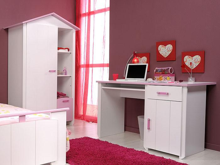 kinderzimmer beauty 7 4 teilig wei rosa schrank bett schreibtisch kaufen bei vbbv gmbh co kg. Black Bedroom Furniture Sets. Home Design Ideas