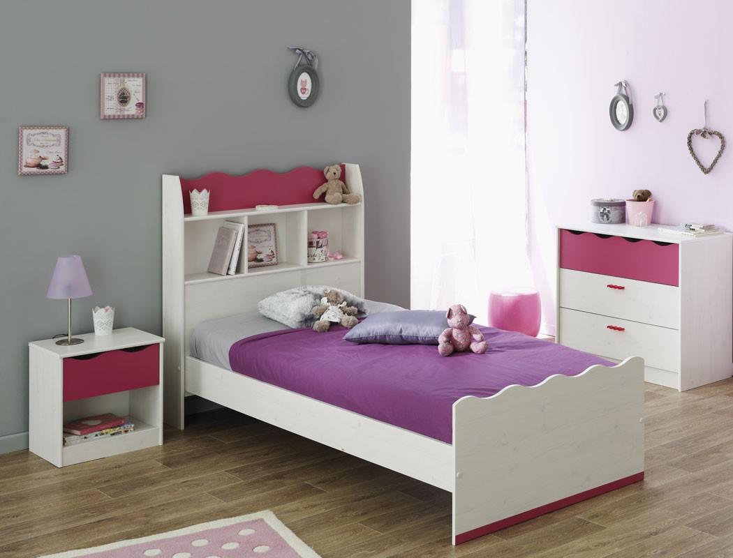 kinderzimmer lilan 2 wei pink kinderbett nachttisch kommode m dchen kaufen bei vbbv gmbh co kg. Black Bedroom Furniture Sets. Home Design Ideas