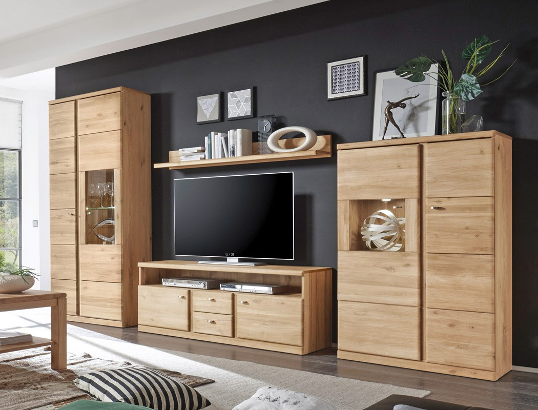 wohnwand lanciano 4teilig wildeiche teilmassiv medienwand. Black Bedroom Furniture Sets. Home Design Ideas