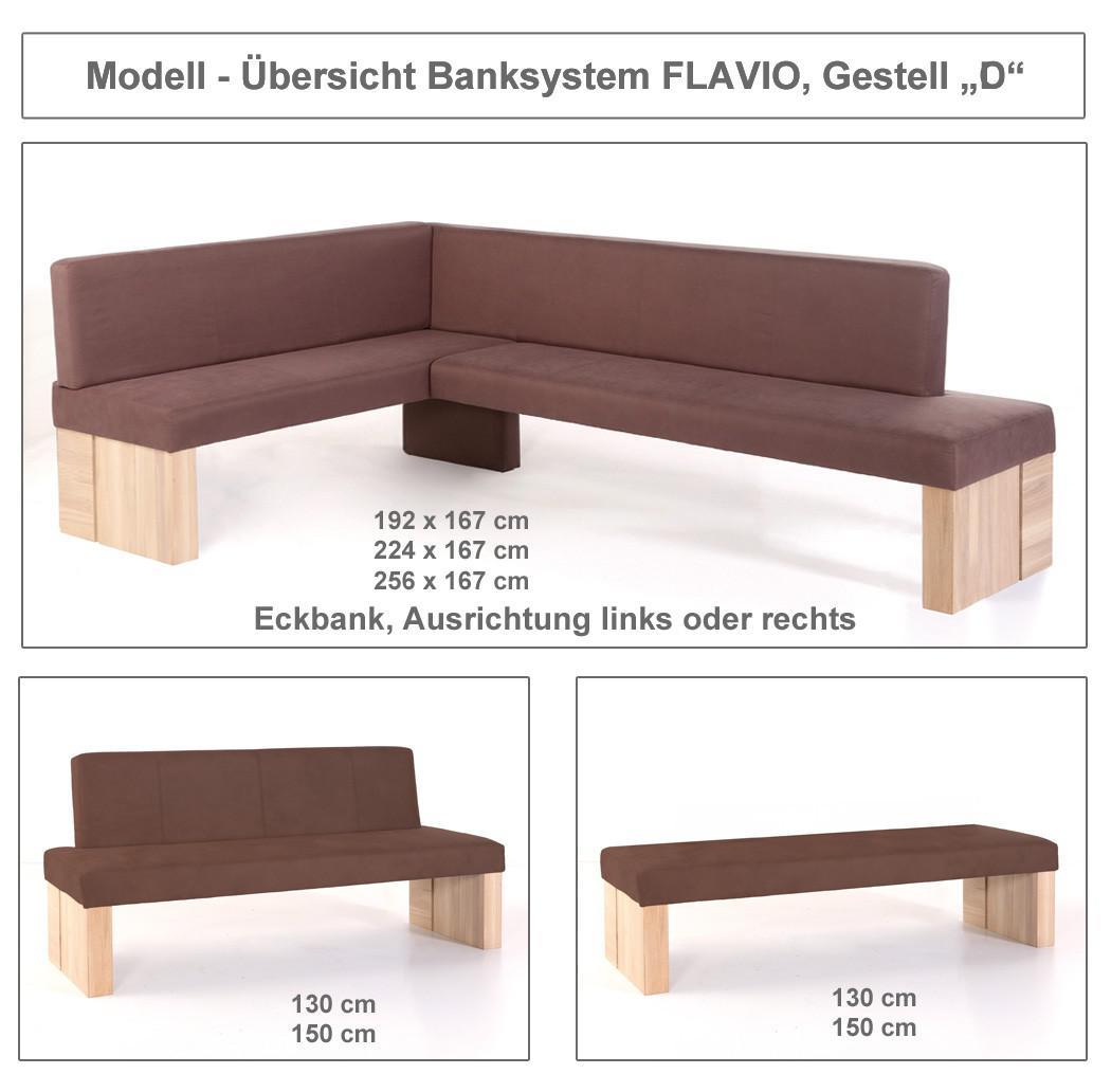 sitzbank flavio ohne lehne 130cm 150cm gestell d polsterbank bank kaufen bei vbbv gmbh co kg. Black Bedroom Furniture Sets. Home Design Ideas