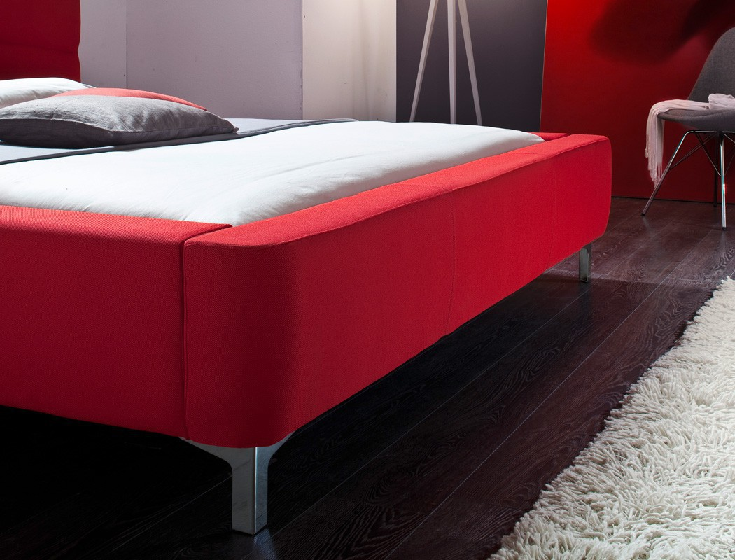 polsterbett cloude bett 180x200 cm rot mit lattenrost matratze kaufen bei vbbv gmbh co kg. Black Bedroom Furniture Sets. Home Design Ideas