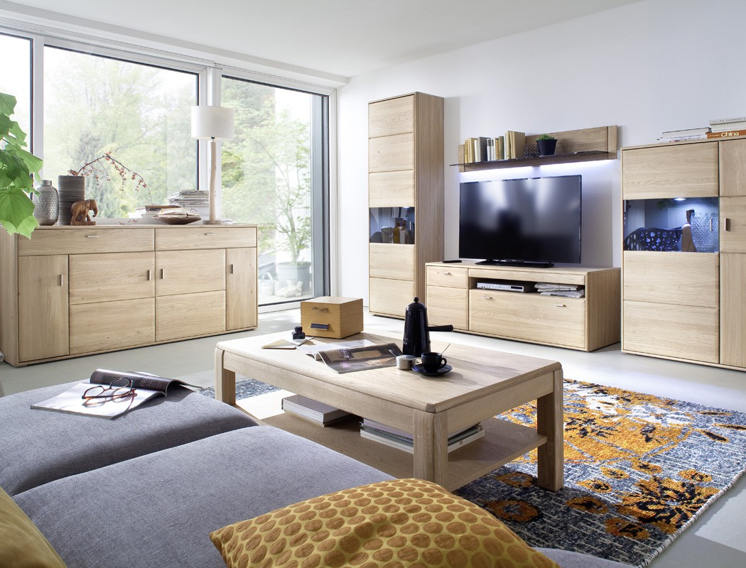 lowboard torrent 3 eiche bianco massiv 149x56x52 tv m bel tv schrank kaufen bei vbbv gmbh co kg. Black Bedroom Furniture Sets. Home Design Ideas