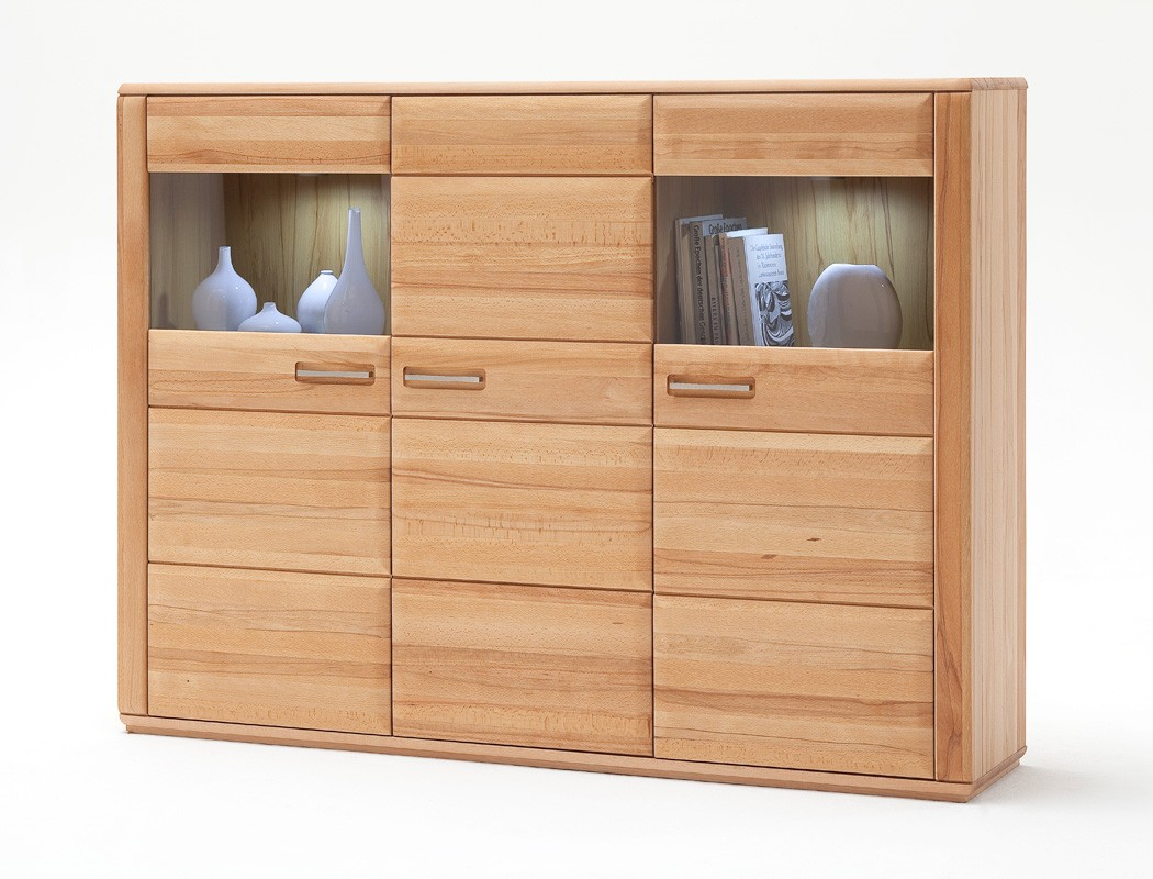 highboard senta 2 kernbuche teilmassiv 179x131x38cm schrank vitrine kaufen bei vbbv gmbh co kg. Black Bedroom Furniture Sets. Home Design Ideas