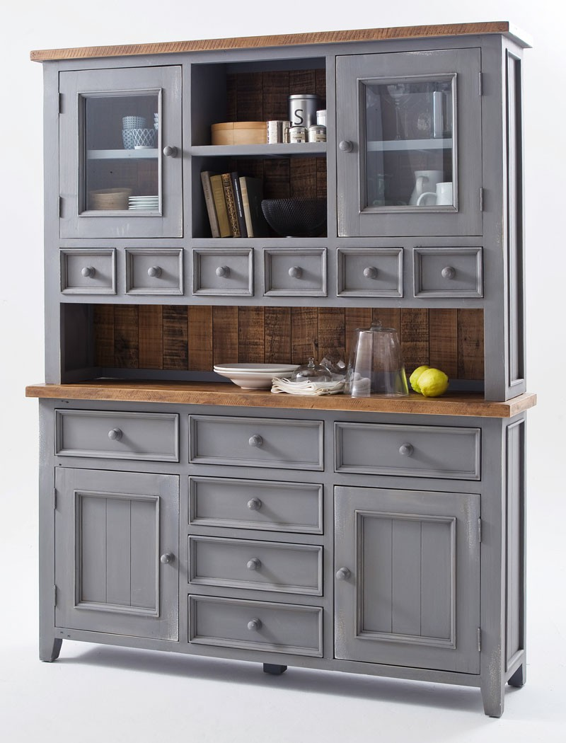 buffetschrank bristol 159x200x40 kiefer antik grau schrank used look kaufen bei vbbv gmbh co kg. Black Bedroom Furniture Sets. Home Design Ideas