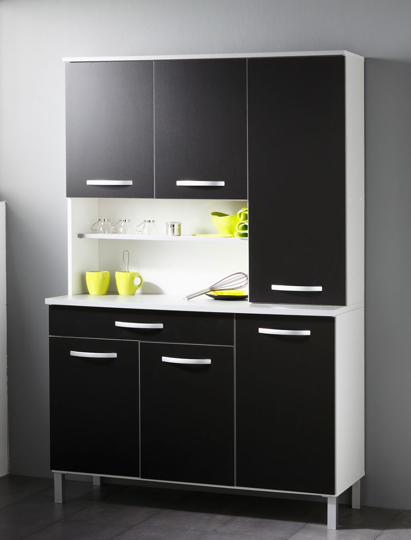 k chenschrank seamus 13 wei schwarz schrankkombination buffetschrank kaufen bei vbbv gmbh. Black Bedroom Furniture Sets. Home Design Ideas