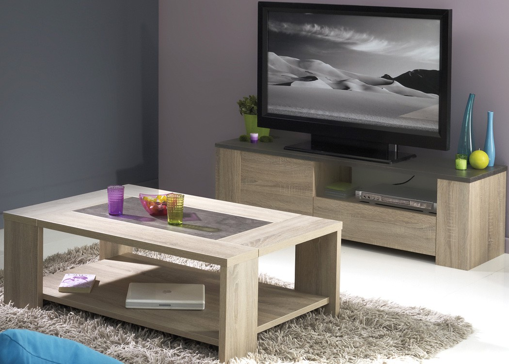 wohnzimmer fumio 1 eiche natur nachbildung steinoptik lowboard tisch kaufen bei vbbv gmbh co kg. Black Bedroom Furniture Sets. Home Design Ideas