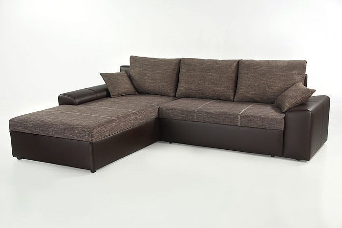 Ecksofa couch sharon 250x193cm braun bettkasten for Ecksofa eckcouch