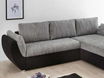 ecksofa couch tifon 272x200cm grau schwarz bettfunktion polsterecke kaufen bei vbbv gmbh co kg. Black Bedroom Furniture Sets. Home Design Ideas
