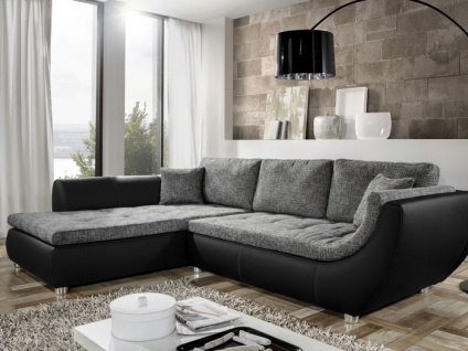 couch avery 287x196cm webstoff anthrazit kunstleder schwarz sofa kaufen bei vbbv gmbh co kg. Black Bedroom Furniture Sets. Home Design Ideas