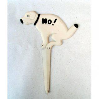 Schild Hunde No ! - Weiss