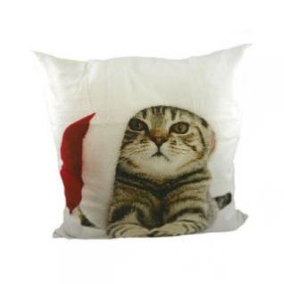 Kissen Weihnachten Katze