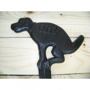 Schild Hunde No antikbraun