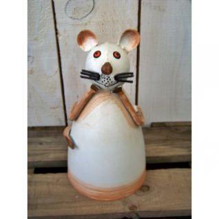 Gartenfigur Zaunhocker Maus