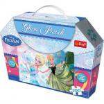 Frozen Glitter-Puzzle 100 Teile