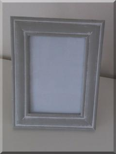 Bilderrahmen rechteckig Holz grau-washed 23,5 cm - Vorschau
