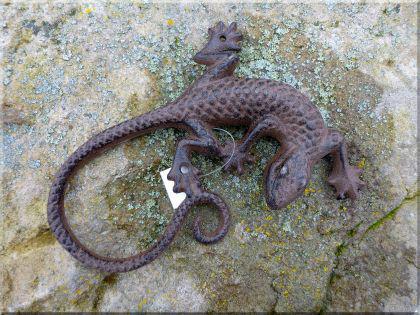 Eidechse, Gekko, Salamander aus Gusseisen 23 cm - Vorschau