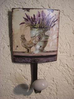 Kleiderhaken Lavendel Metall 20 cm - Vorschau