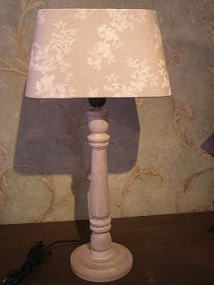 Tischlampe rechteckig grau mit Blumen 50 cm - Vorschau