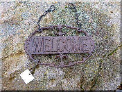 Welcome Schild aus Gusseisen zum Hängen 19 cm - Vorschau