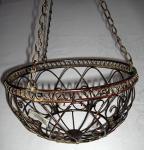 Hängekorb aus Metall braun-antik 63, 5 cm