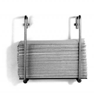 Papierspender Edelstahl o. Messing mit Glas