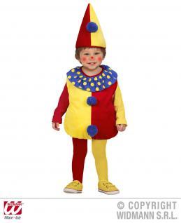 2 tlg. Kostüm Clown, Kinder Kleinkinder 80-86, 1-2 Jahre, Karneval 1900