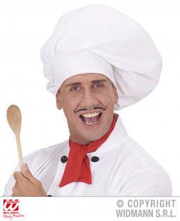 Chefkoch Mütze, Koch Mütze weiß groß DELUXE Maxi 4534