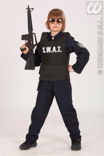 S.W.A.T Weste, Polizei, Agent schwarz, Kinder Größenlos