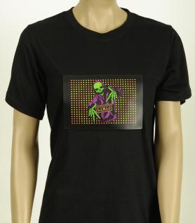 Skelett T-Shirt, Rave Shirt Herren L 50-52 Baumwolle Elektro Halloween