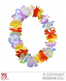 1 x Hawaii Kette Blumenkette bunt Party Karneval Erwachsene + Kinder