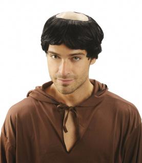 MÖNCH PERÜCKE GLATZE Priester Pfarrer Pater Kloster Kostüm 8606