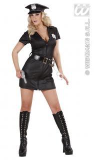 Polizisten, Sexy Polizei- Cop Kostüm, schwarz 36-38