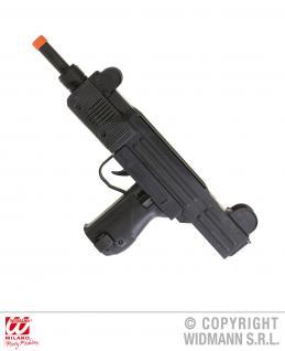 Uzi Maschinengewehr 39cm, passend z SWAT Polizei Gangster Kostüm 7083