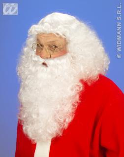 Weihnachtsmann-Perücke, Weihnachtsmann Perücke mit Bart 0867