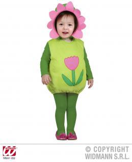 2 tlg. Kostüm Flower Blume, Kinder Kleinkinder 80-86, 1-2 Jahre, Karneval