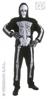 Skelett Kostüm, Tod, Geist Overall + Maske, Kinder 140