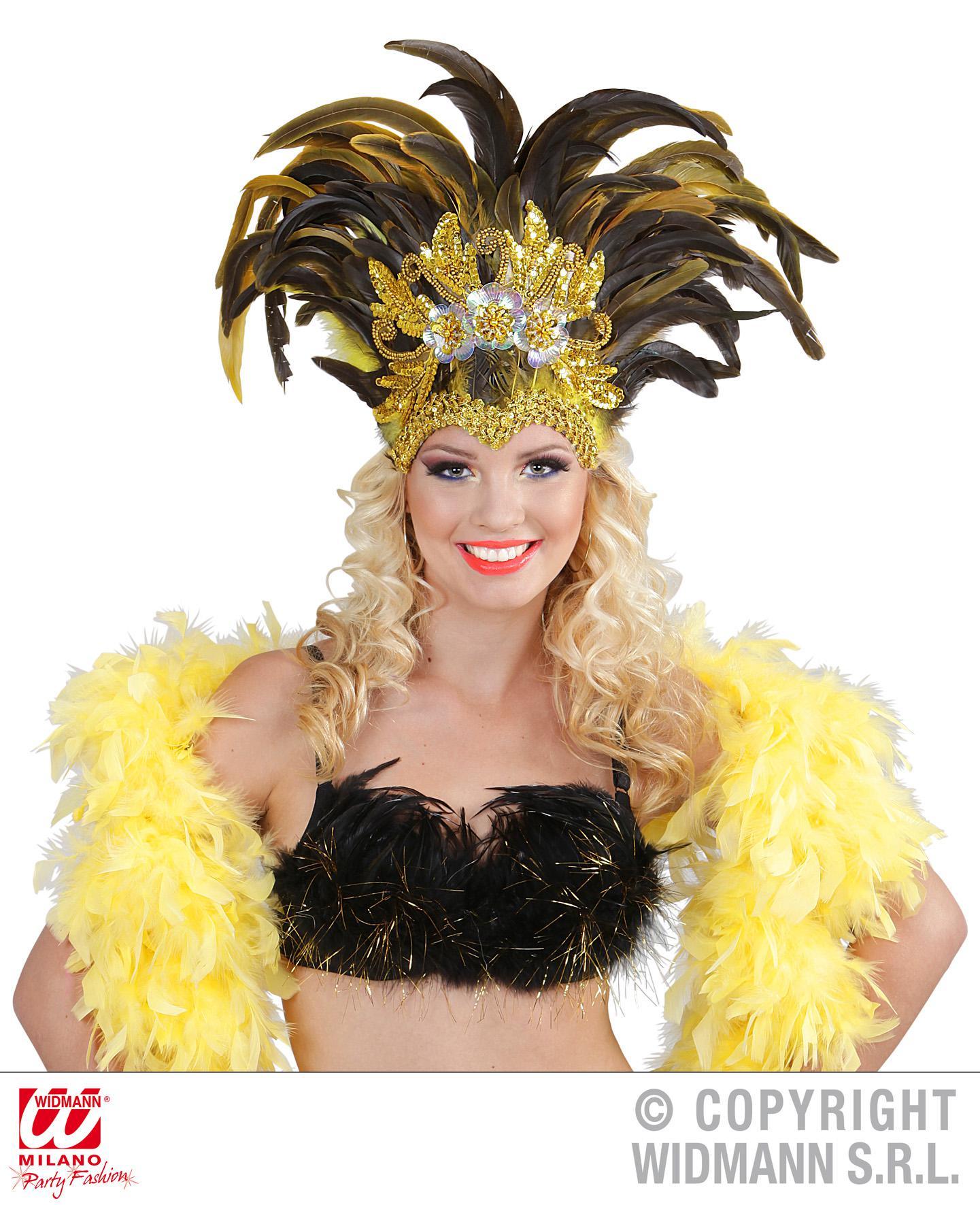 Как сделать бразильский костюм из перьев