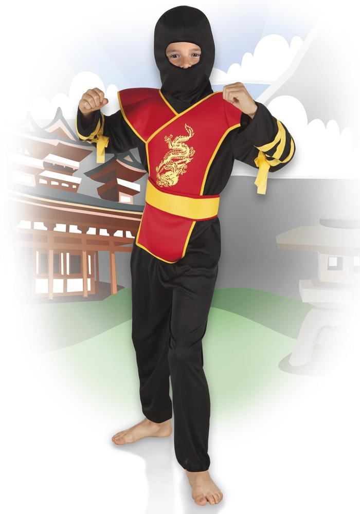 5 tlg ninja kost m schwarz rot samurai kinder kaufen bei preiswert123. Black Bedroom Furniture Sets. Home Design Ideas